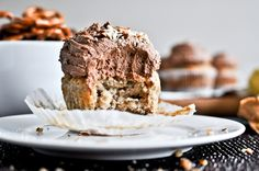 Pretzel Bottomed Banana Bread Cupcakes - pretzel recipes curated by SavingStar Grocery Coupons. Save money on your groceries at SavingStar.com