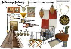 Get Campy with a Cabin Themed Kids Room Mood Board | The Design Confidential