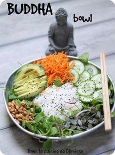 Diet Eat Stop Eat - HEALTYFOOD Diet to lose weight Buddha bowl La cuisine végétalienne de Djanisse In Just One Day This Simple Strategy Frees You From Complicated Diet Rules - And Eliminates Rebound Weight Gain Vegetarian Recipes, Healthy Recipes, Buddha Bowl, Buddha Buddha, Food Bowl, Fat Loss Diet, Fat Burning Foods, Stop Eating, Food Inspiration