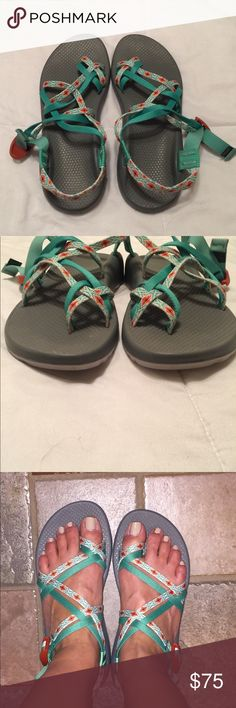 Chacos Zx/2 classic Chacos Zx/2 classics, size 10.  New without tags, brought for a cruise excursion but never did it so they have been sitting in my closet. Perfect for hiking, swimming, anything! Super comfortable and the pattern is so cute! Feel free to ask any questions... and don't be afraid to make me an offer ❤️ Chacos Shoes Athletic Shoes