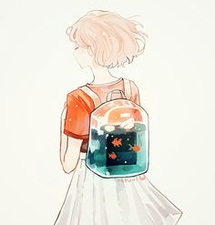 With her book-bag she was ready to unleash her beautiful ocean. Everyone can plainly see the beauty within her.