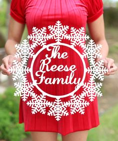 This Unfinished Snowflakes Personalized Door Sign by Morgann Hill Designs is perfect! #zulilyfinds