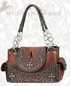 Brown Tooled Western Purse