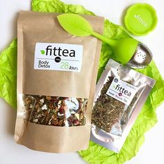 FitTea - Kraft Paper Packaging | Kraft Stand Up Pouch With Window | Tea Packaging