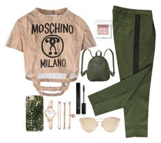 """""""Untitled #9"""" by pelinkurnaz on Polyvore featuring Moschino, Humble Chic, RIFLE, Christian Dior, Anne Klein, Forever 21 and Bobbi Brown Cosmetics"""