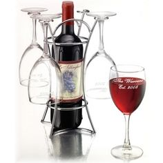 love it Cocktails For Parties, Wine Cocktails, Antipasto, Wine Gadgets, Kitchen Gadgets, Wine Supplies, Hanging Wine Rack, Wine Caddy, Personalized Wine Glasses