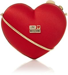 LOVE MOSCHINO - Red Heart Clutch Bag    The House of Beccaria #