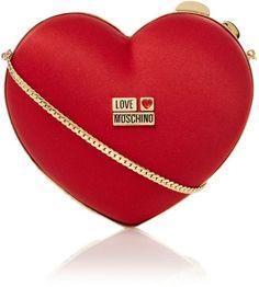 LOVE MOSCHINO - Red Heart Clutch Bag