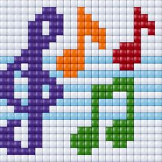 Here the graphics that . Cross Stitch Music, Small Cross Stitch, Cross Stitch Cards, Cross Stitch Designs, Cross Stitching, Cross Stitch Embroidery, Cross Stitch Patterns, Bead Loom Patterns, Beading Patterns
