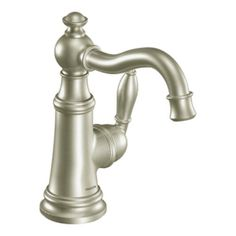 MOEN Hensley Single Hole 1 Handle Bathroom Faucet Featuring Microban  Protection In Spot Resist Brushed Nickel 84414MSRN   The Home Depot |  Pinterest ...