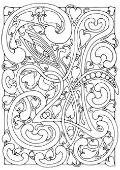 Tangled Doodle Pattern Coloring Page For Adults