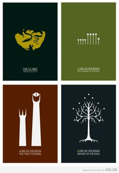 Minimalist Hobbit & Lord of the Rings Collection