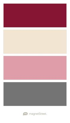 Custom Pink, Champagne, Blush, and Charcoal - Free Color Swatches ordered at MagnetStreet.com
