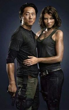 the walking dead / Glenn & Maggie  i thought it was soo adorable in season 4 when he called maggie his wife!! they r too cute!