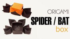 Origami Halloween Box Spider or Bat Lid