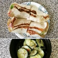 #Lunch from earlier. Ham and turkey wraps with cucumber salad.  #Fitness #Health #Healthy #EatClean #CleanEating #WeightLoss #Fitstagram #HealthyChoices #Determination #Diet #Bodybuilding #GetFit #Motivation #Fitspo #FitGuysCook #Fit #HealthFreak #FitFam #TagsforLikes #Foodgasm #Foodporn #LowCarb #HealthyFoodPorn #FitFood #FitMenCook by kenneg4turtle