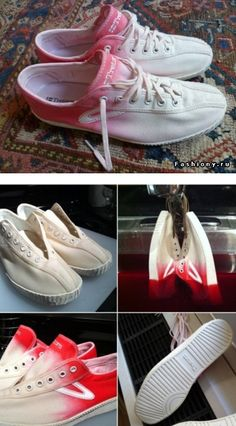 Pink ombre shoes! So easy and so cute!