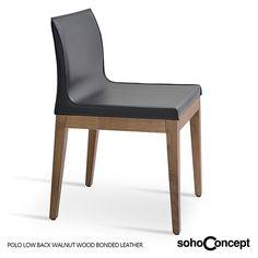 Sign 457 è una poltroncina - sedia in legno massello di noce ...