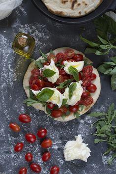 Pizza en sarten. Caprese a mi manera by Loleta.es