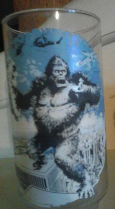 1976 King Kong Coke glass