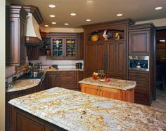 Roomscapes Design Gallery: Kitchen Designs - 2 colors of wood