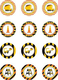 Construction Truck Party Cupcake Toppers por DBCelebrations ideas at home Construction Cupcakes, Construction Birthday Parties, Cars Birthday Parties, Construction Party, Birthday Party Decorations, Diy Birthday, Birthday Ideas, Dump Truck Party, Dump Trucks