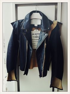 Deconstructed biker jacket from the Maison Martin Margiela for H collection