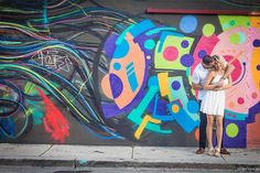 A Comprehensive Guide to Taking Engagement Pictures in Miami's Wynwood Art District | Brides.com
