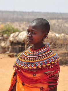 Africa: Masai girl, Kenya