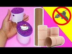 How to make Miniature Toilet for Barbie dolls Barbie Dolls Diy, Diy Barbie Clothes, Barbie Doll House, Barbie Barbie, Barbie House Furniture, Doll Furniture, Diy Doll Miniatures, Miniature Dolls, Accessoires Barbie