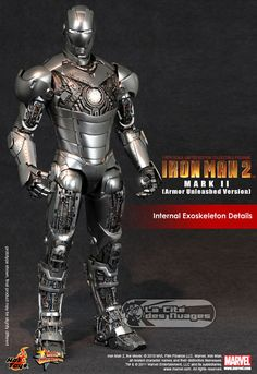 Hot Toys Iron Man 2 Mark II (Armor Unleashed Version) 12 30cm Limited Edition Collectible Figurine