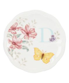 Loving this Butterfly Meadow 'D' Plate on #zulily! #zulilyfinds