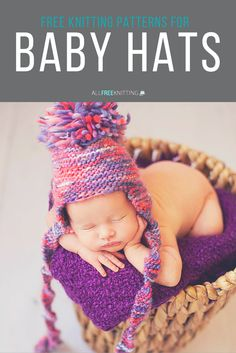 There's really nothing cuter than a baby in a knitted hat. So many cute free knitting patterns!