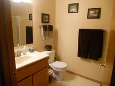 Easy and cheap bathroom update Ikea butcher block countertop on