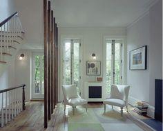 Wood wall divider.