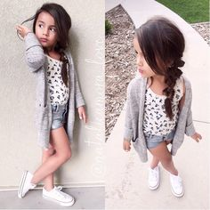 KF Model: @natalieamora_love Top and Cardigan from Gap Kids Shoes converse #kidzfashion www.kidzfashion.com.au