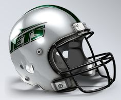 New York Jets Concept Helmet Nfl Football Helmets, Jets Football, Custom Football, Football Uniforms, Football Stuff, High School Cheerleading, Jet Fan, Helmet Logo, Helmet Paint