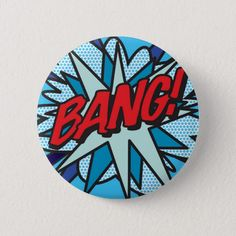Pinback Button created by ComicBookPop. Comic Books Art, Comic Art, Fun Comics, Pop Art Comics, Pop Art Party, Design Comics, Personalised Gifts Unique, Custom Buttons, Vintage Theme
