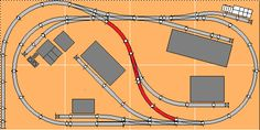 Mike's Small Trackplans Page N Scale Train Layout, Ho Train Layouts, N Scale Layouts, N Scale Model Trains, Scale Models, Garden Train, Lionel Trains Layout, Model Railway Track Plans, Ho Trains