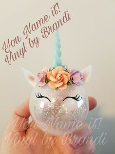 Unicorn Ornament www.facebook.com/younameitbybrandi