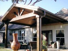 dark wood patio cover i want something like this added onto my house - Outdoor Patio Cover Ideas