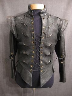 Love the sleeves...it's like he fought a dragon in this thing. Steampunk men.