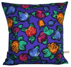 Handmade Vintage 8Inch Purple tulip cushion by Paisley Fox, £22.00