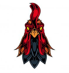 Discover thousands of Premium vectors available in AI and EPS formats Rooster Tattoo, Rooster Logo, Rooster Art, Rooster Vector, Chicken Logo, Cartoon Chicken, Chicken Art, Animal Sketches, Art Drawings Sketches