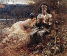 The Temptation of Sir Percival - Arthur Hacker