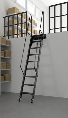 Mezzanine - Noel Curran Attic Stairs the largest range of attic stairs Attic Staircase, Loft Stairs, Staircase Design, Stair Design, Loft Grenier, Exterior Design, Interior And Exterior, Mezzanine Loft, Small Attics
