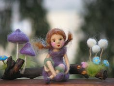Needle felted forest fairy waldorf inspired, by Made4uByMagic at Etsy - she has a lovely story about it, too