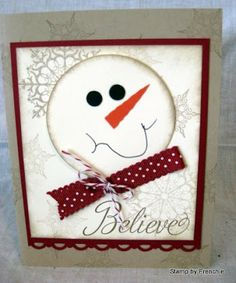 Stamp & Scrap with Frenchie: Beautiful Snowman Card for YOU! Extravaganze Sale