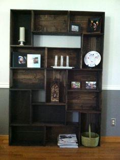 Wine Crate Book Shelf