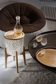 Noé Duchaufour-Lawrance, a designer known for his interiors and furniture, debuted a modern collection of crystal for French manufacturer, Saint-Louis.